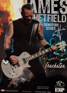 ESP Metallica James Hetfield Signature Guitar Print Ad