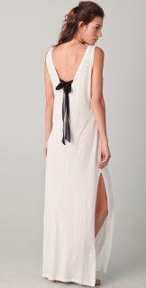 3.1 Phillip Lim Black Tie V Back Crew Maxi Dress
