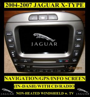 2004 2007 Jaguar x Type Navigation GPS Screen in Dash CD Player Radio