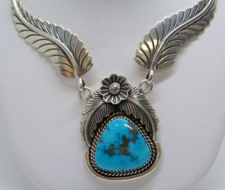 Native American Indian James Lee Navajo Sterling Silver Turquoise