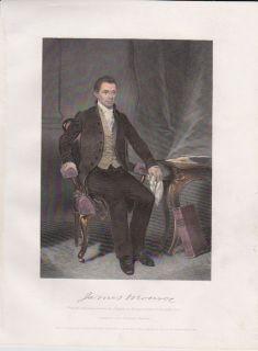 President James Monroe Signed 1817 Illinois Land Grant Framed Bronze