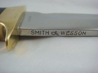 Smith Wesson 1975 Custom Hunting Bowie Knife w Case 6480