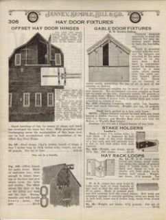 1922 Vintage Hay Barn Door Hinges Antique Farm RARE Ad