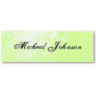 Grunge Ditressed Green 411 Skinny Profile Cards Business Cards