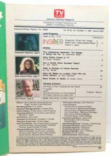 TV Guide October Oct 17 1987 Dolly Parton World Series Baseball Eight