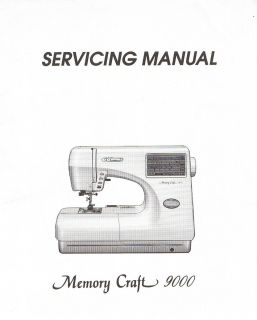 Janome Memory Craft 9000 Sewing Machine Service Repair Manual + Parts