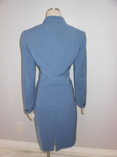 Jones New York Suit  Womens Cornflower Blue Skirt Suit Jacket