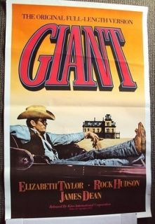 Giant Original James Dean Poster Cowboy Western Look