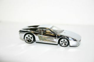 Ferrari Testarossa F512M Hot Wheels Custom Chrome 1 64 Y24
