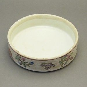 Pottery China Porcelain Tea Caddy Tobacco Biscuit Jar Butterfly Design