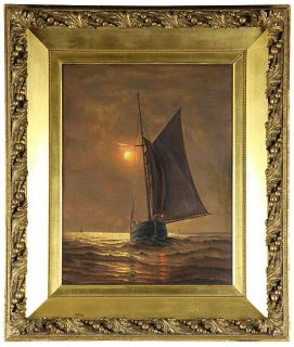 Ship Painting, attributed to James Gale Tyler, American 1855 1931
