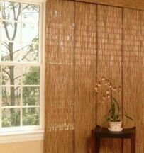 JCPenny Cindy Crawford Costa Sliding Bamboo Panel 20X82 Natural SET of