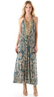 Tbags Los Angeles Maxi Dress with Beaded Bib