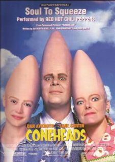 Coneheads Soul to Squeeze Red Hot Chili Peppers Sheet Music