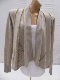 Jamison Gray Knitted Cashmere Blend Sweater Cardigan Small