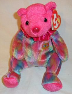 Ty Beanie Babies January Birthday Collections Bear Garnet Tye Die