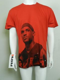 Nike Lebron James Behind The Mic New Mens Dri Fit Red Shirt 372850 611