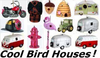 Birdhouse RV Trailer Firefighter Tractor Pink Flamingo