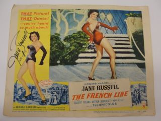 The French Line Jane Russell Autographed Movie Poster Vintage Used as