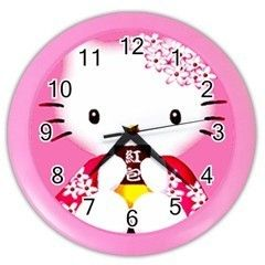 Hello Kitty Japan Pink Wall Clock