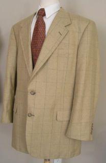 Tom James Innocenti Sport Coat Beige Wool 46R Perfect