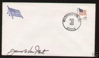 General James Van Fleet Signed Autographed Postal Cover