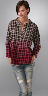 PJK Patterson J. Kincaid PJK Blue Label Stewart Plaid Henley Shirt