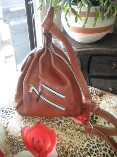 Pattie Jarrell Colorado Designer Thick Soft Brown Leather BackPack