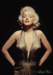 Marilyn Monroe Gold Dress Poster Go L K