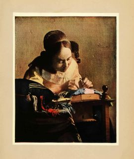 In Print Woman Lace Maker Craft Jan Vermeer Baroque Dutch Golden Age