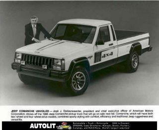 1986 Jeep COMANCHE Pickup Truck Photo Dedeurwaerder