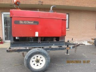 Miller Big 40 Diesel Trailer Mounted Welder Generator Welding Power