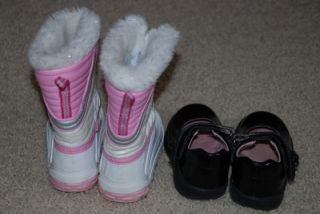 Toddler Girl Stride Rite patent mary jane shoes winter boots 6 6.5