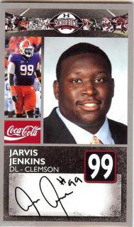 Jarvis Jenkins 2011 Senior Bowl Clemson Tigers Redskins