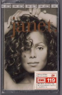 Janet Jackson Janet Thai Limited 1st Press Cassette New