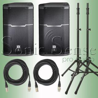 JBL PRX 615M Full Range 15 2 Way Powered Speakers PRX615M Stands Extd