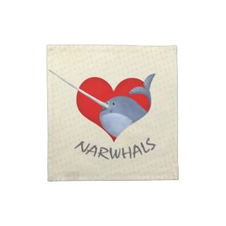 love Narwhals Cloth Napkins