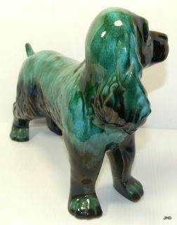 Vintage Large Cocker Spaniel Blue Mountain Dog Figurine Mint