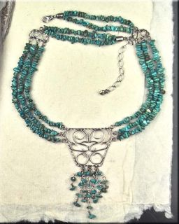 Jay King Mine Finds Multi Strand Sterling Scrollwork Chunky Necklace