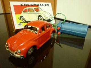 Japanese Masudaya VW Volkswagen New Beetle Sports Car RC Tin Toy