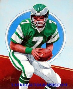 Ron Jaworski Eagles Leon Wolf Hand Painted 16 x 20