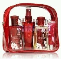 Japanese Cherry Blossom 5 Piece Bath Body Works Winter Gift Set Fruit