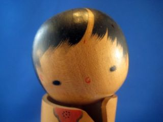 Vintage Collectible Wood Japanese Kokeshi Doll