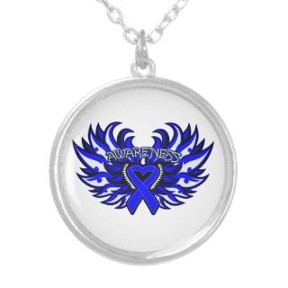 Histiocytosis Awareness Heart Wings Personalized Necklace