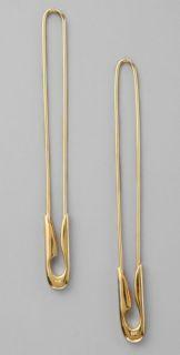 TOM BINNS Classic Gold Safety Pin Earrings