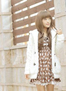 Hot Fashion Sleeve Hooded Cute Bunny Ears Jacket Sweater Coat 2 Color