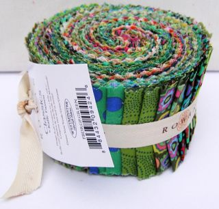 Fassett CLASSICS GREEN #2 Design Roll 2.5 Fabric Strips Jelly Roll