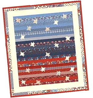 Star Spangled Banner Jelly Roll Pattern Red White Bold