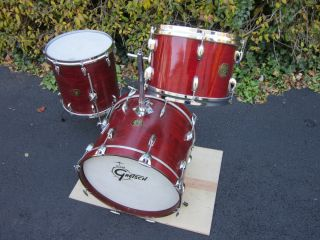 Gretsch Progressive Jazz Drum Set 18 12 14 Rosewood Lacquer 70S