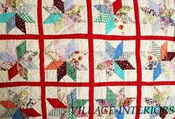 Pine Cone Hill Americana Vermont Star Queen Quilt Set